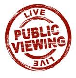 offentlig visning royaltyfri illustrationer
