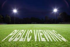 offentlig visning Arkivbilder