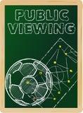 Offentlig visning för fotboll vektor illustrationer