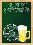 Offentlig visning för fotboll, stock illustrationer