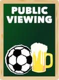 Offentlig visning för fotboll, royaltyfri illustrationer