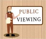 Offentlig visning för ordhandstiltext Affärsidé för att i stånd ska vara sett eller bekant vid alla som är öppen till den allmänn royaltyfri illustrationer