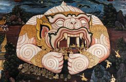 Offentliga Art Thai Mural Painting royaltyfri foto