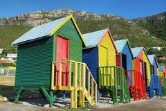 Offentliga badrum av den St James stranden i Muizenberg Royaltyfri Fotografi
