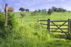 Offentliga Bridleway, östliga Yorkshire arkivbilder