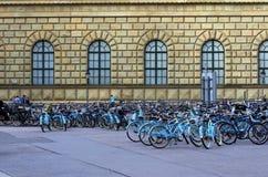 offentliga cyklar Arkivbild