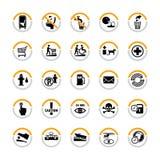 offentliga info-pictograms Arkivfoton