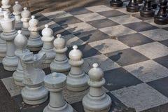 Offentliga schacklekar i bastioner parkerar, Genève royaltyfri bild
