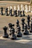 Offentliga schacklekar i bastioner parkerar, Genève royaltyfria bilder