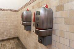 Offentliga telefoner, Siena, Italien Royaltyfria Foton
