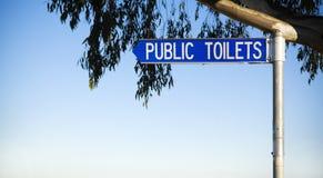 offentliga toaletter Arkivbilder