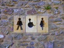 Offentliga toaletter Arkivbild