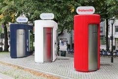 Offentliga toaletter i den Oslo staden på Spikersuppa parkerar royaltyfri foto