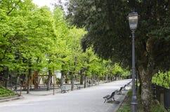 Offentliga trädgårdar av Cortona, Italien Royaltyfria Bilder