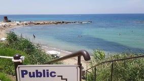 offentligt tecken för strand arkivfilmer