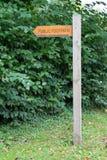 offentligt tecken för vandringsled Royaltyfri Bild