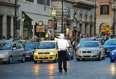 Offentligt trans. på gatorna av Rome, Italien Arkivfoton