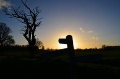 Offentligt vandringsledtecken Fotografering för Bildbyråer