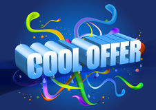 Offer. Logo created in illustrator. can use for advertisements Stock Image