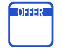 Offer. A sign shwoing the word offer. Useful for special offers Royalty Free Stock Photo