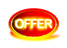 Offer. Logo created in illustrator. can use for advertisements Stock Photos