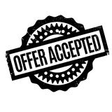 Offer Accepted rubber stamp Stock Photos