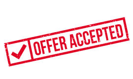Offer Accepted rubber stamp Royalty Free Stock Photography