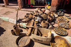 Offer antiques front of the store, Morocco Royalty Free Stock Photography
