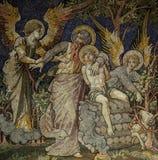 Offer av Isaac av Abraham (mosaiken) Arkivbilder