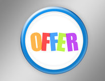 Offer button stock illustration