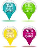 Offer buttons Royalty Free Stock Photos