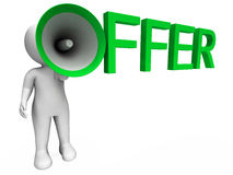 Offer Character Shows Sale Offers And Offering Royalty Free Stock Photography