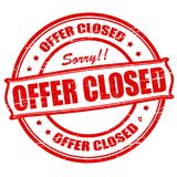 Offer closed. Rubber stamps with text offer closed inside,  illustration Stock Image