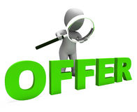 Offer 3d Character Shows Cheap Discounts Offers And Reduction Stock Photo