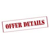 Offer details. Rubber stamp with text offer details inside, vector illustration royalty free illustration