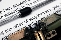Offer of employment Stock Image