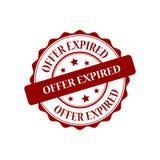 Offer expired stamp illustration. Offer expired red stamp seal illustration design Stock Photo