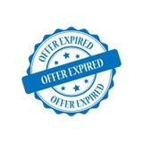 Offer expired stamp illustration. Offer expired blue stamp seal illustration design Royalty Free Stock Photos