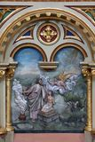 Offer för Abraham ` s av Isaac Arkivbilder