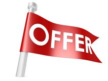 Offer flag Royalty Free Stock Photos