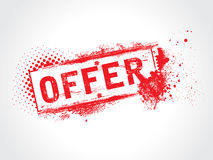 Offer Grunge Text. This is a Offer Grunge Text Stock Photos