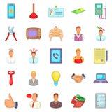 Offer icons set, cartoon style Stock Photos