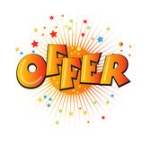 Offer Illustration Royalty Free Stock Photos