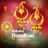 Offer on jewelry for Raksha Bandhan Stock Photo