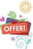 Offer label. Illustration graphic style for OFFER label Royalty Free Stock Photography