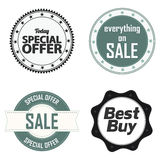 Offer labels Stock Photography