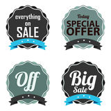Offer labels Stock Image