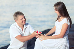 Offer of marriage Royalty Free Stock Photo