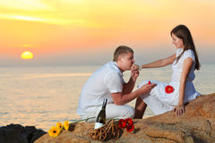 Offer of marriage Royalty Free Stock Photography