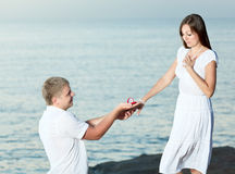 Offer of marriage Stock Photo